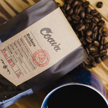 Coava coffee beans and packaging