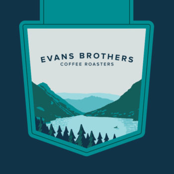 Coffee bag branding featuring Evans Brothers coffee roasters